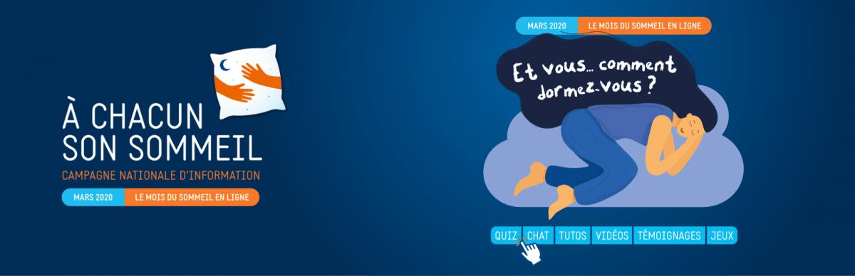 Découvrez la campagne d'information gratuite «A chacun son sommeil «